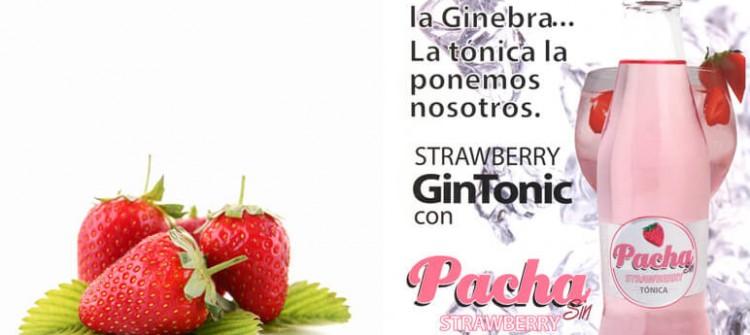 Tónica Pacha Sin con sabor a fresa