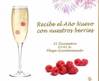 Frambuesas y cava de fresa en Lucena del Puerto